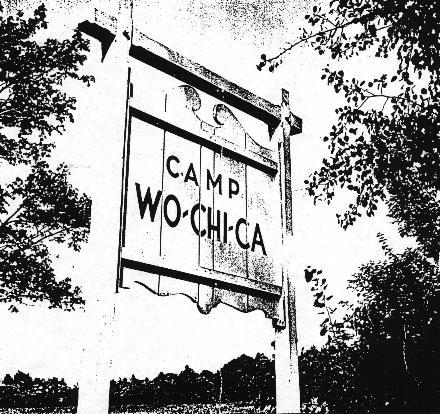 Wo-Chi-Ca Wood Sign